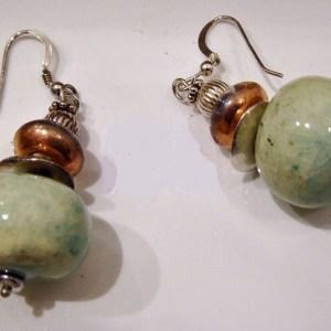 Meryl Lusher Green earrings