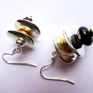 meryl lusher, black,silver,goldearrings