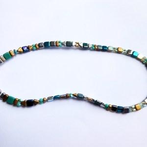 meryl lusher,mixed tila bead necklace