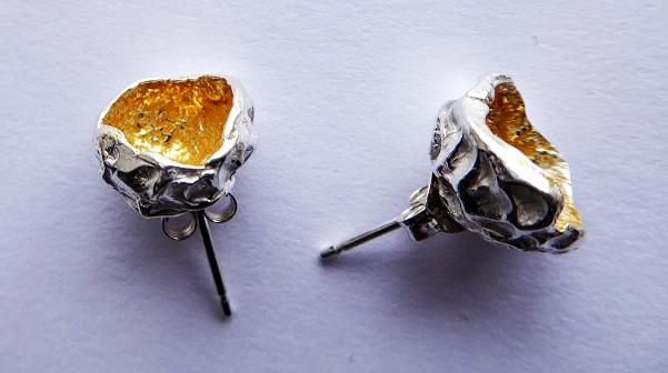 silverkupe stud hollow gold