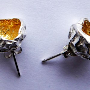 silverkupe stud hollow gold