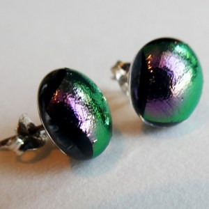 Rosie Waites green and pink hints studs