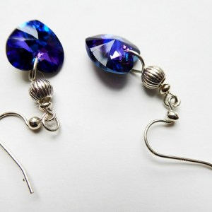 meryl lusher, blue and silver earrings