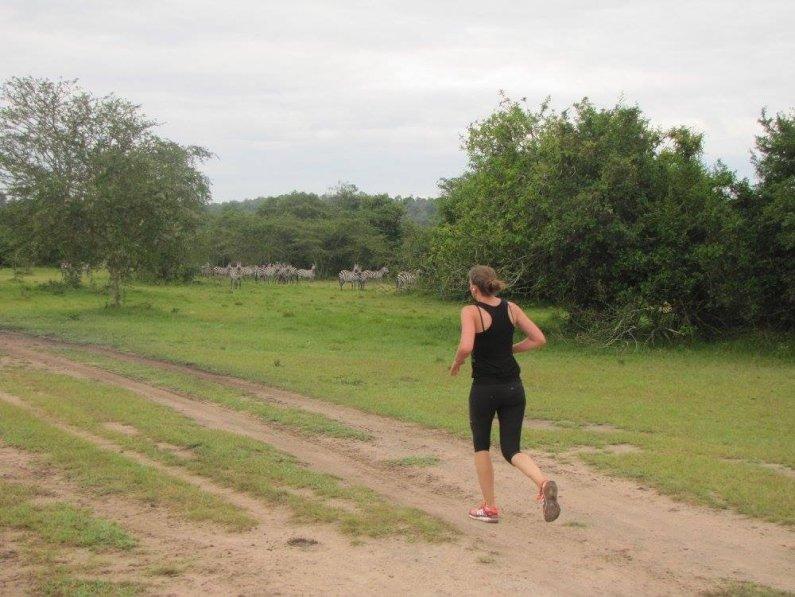 Running with zebras