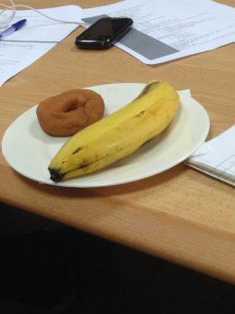 Donut & banana