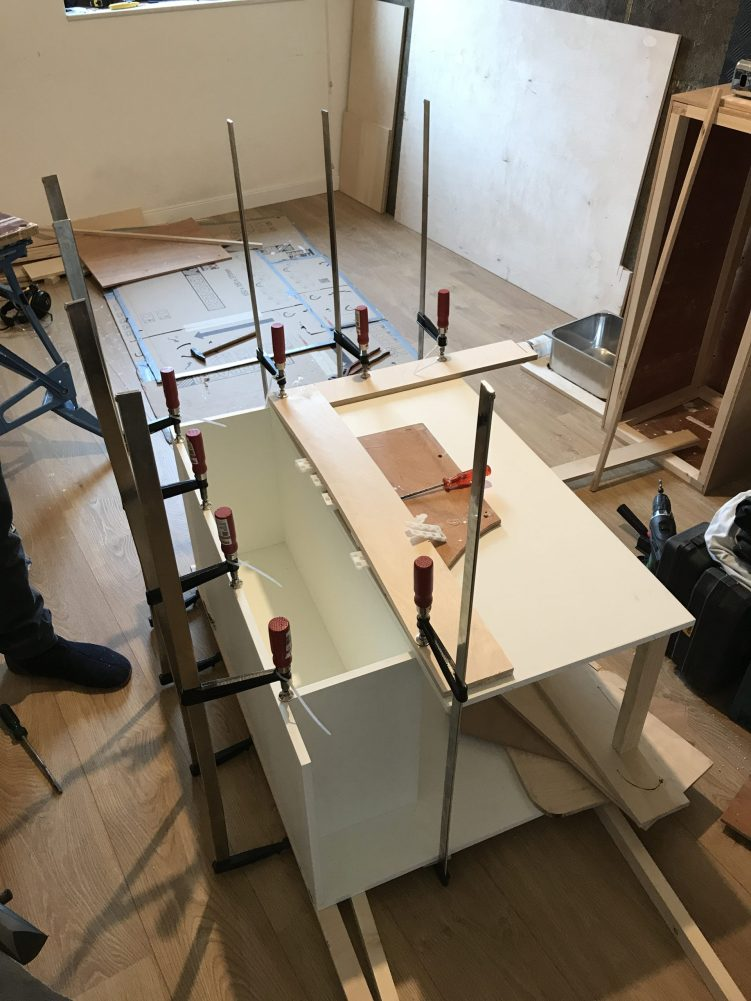 Ons Frankenstein-keukenblok