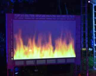 Fire-Large-Screen-Projectio