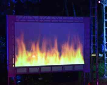Fire-Large-Screen-Projection