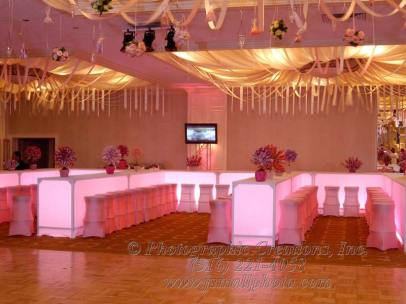 Collaboration-in-pink-lighted-tables-gold-ceiling-treatment