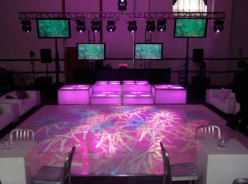 patterned dance floor lighting