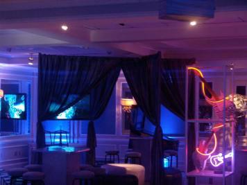 mood lighting and drapes