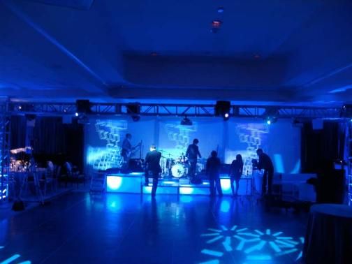 mood lighting, stage decks, event production