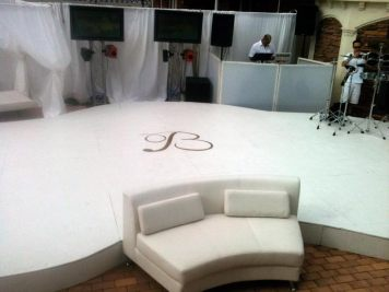 custom pool cover for event production