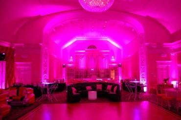 pink mitvah lighting