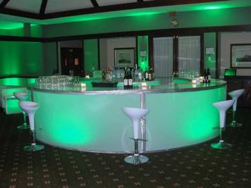 round illuminated bar
