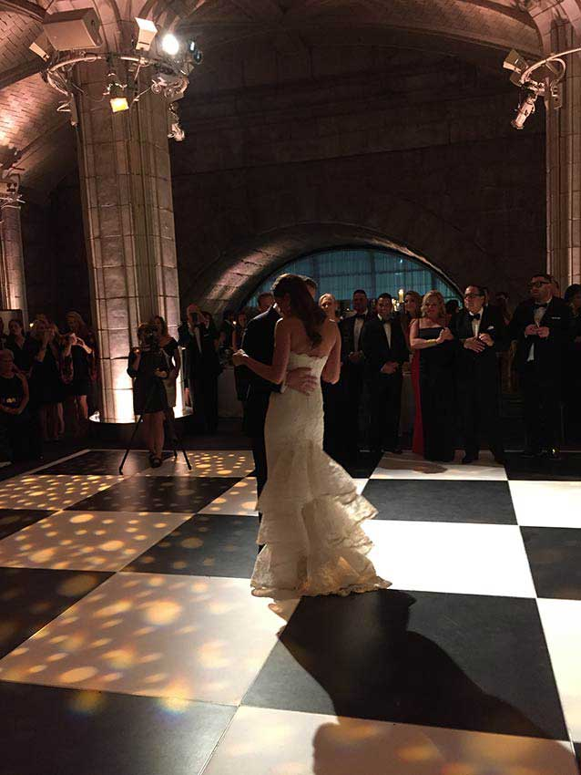 black-and-white-Wedding-Dance-Floor
