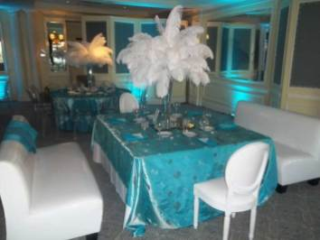 lounge decor and centerpieces for event production