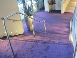 Custom-laid-carpet-on-stairs-for-bat-mitzvah