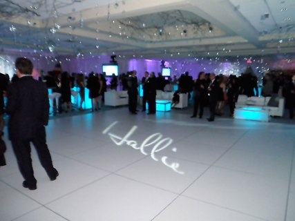 Gobo-of-name-on-dance-floor