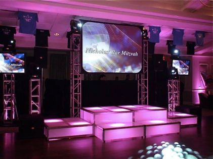 LED-Stage-decks-with-video-screen-and-truss-support