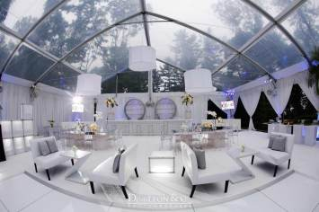 Mirrored-Tables-Furniture-Rental-with-white-couches