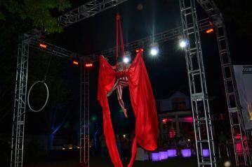 Graduation-Event-Production-Truss-with-Acrobat