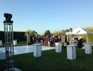 Outdoor-Event-Production-Illuminated-Hi-Boys-White-Portable-Dance-Floor-Truss-Lighting-and-Tent