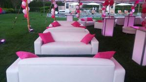 Sweet-16-Outdoor-Tent-with-White-Lounge-Decor-Pink-Pillows-and-Illuminated-Hi-Boys