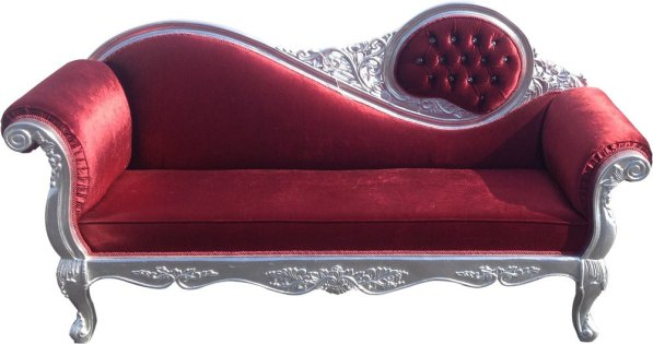 Red Velvet Victorian Couch