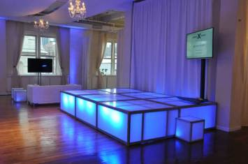 Celebrity-Cruise-Corporate-Event-with-LED-stage-decks-video-screen-chandelier-and-drapes