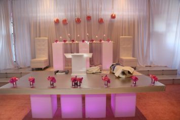 Bar-Bat-Mitzvah-dais-white-lounge-decor-hi-boys-and-stainless-table-for-podium3