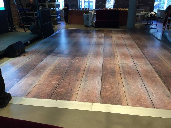 portable rustic wooden dance floor