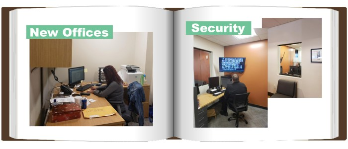 Towers East Offices and Security Before & After