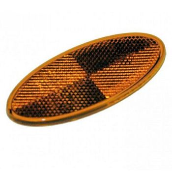 Oval Amber Reflector