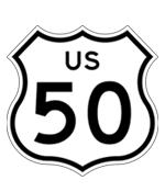 US Highway 50 Sign