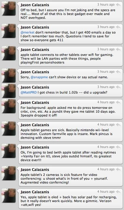 Blogger Jason Calacanis Reveals Apple Tablet Details