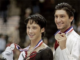 Evan lysacek dating history