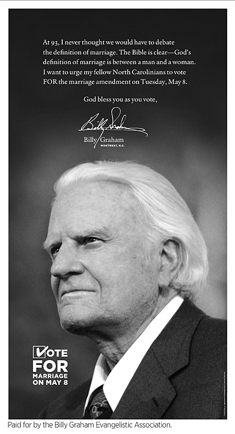 Billy graham and same sex marriage