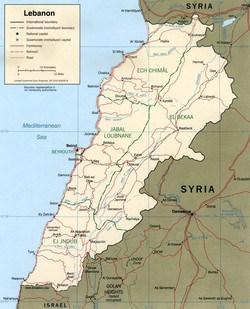 LebanonMap