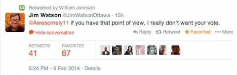 Jim Watson tweet