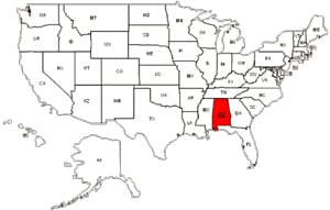 Alabama-map
