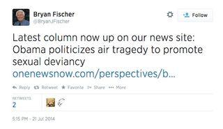 Bryan fischer tweet