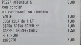 Faggot written on bill in Italy