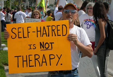 Conversion Therapy protest