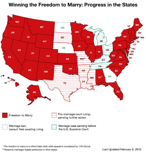 Was and What state allow same sex marriage maybe