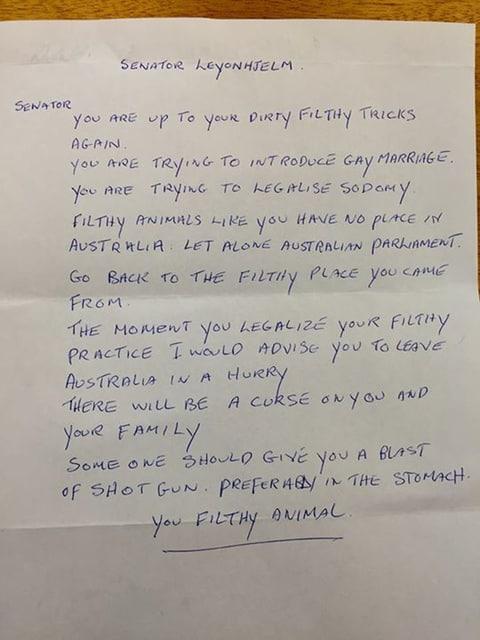 Senator love letter