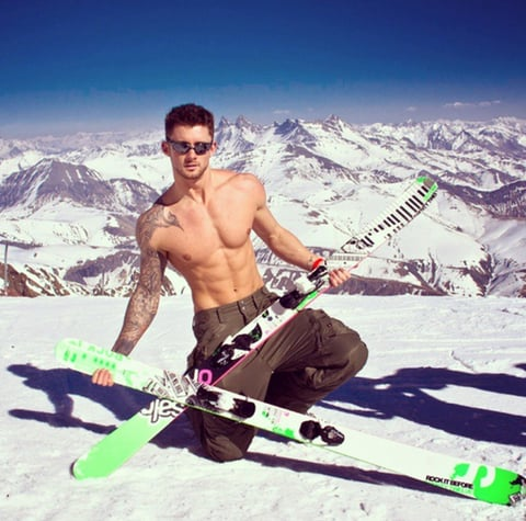 sexy guy naked in the snow