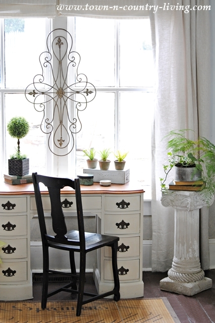 A Living Room Update with Linen Drapes - Town & Country Living on Curtains For Farmhouse Living Room  id=93149
