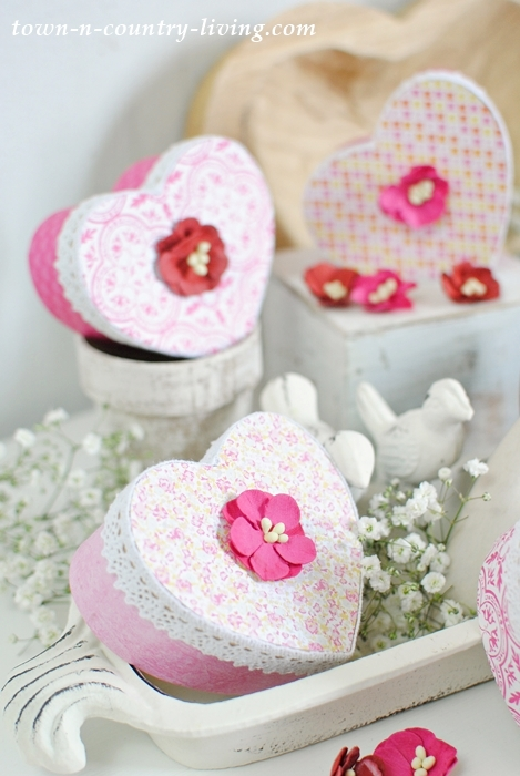 Valentine Heart Boxes How To Make Town Amp Country Living