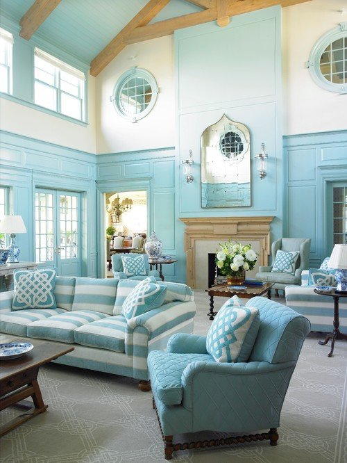 Southampton Blue Charming Home Tour Town Amp Country Living